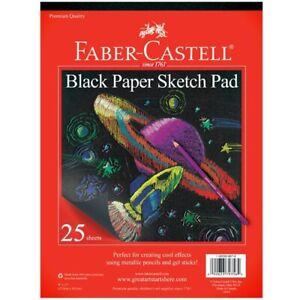 "Faber-Castell Kids Black Paper Sketch Pad 9""x12"""