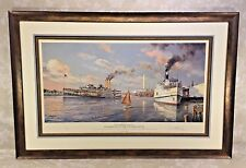 Steamboats of the Potomac River Limited Edition Print by Paul McGehee Framed