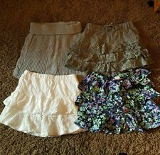 LOT OF 4 Old Navy Girls Tiered Twirl Skirts  Size S (6/7) Cable knit, Eyelet EUC