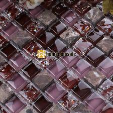 charming purple glass mixed stone kitchen backsplash tiles fireplace mosaic