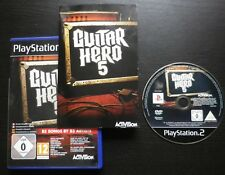 GUITAR HERO 5 : JEU Sony PLAYSTATION 2 PS2 (Activision COMPLET envoi suivi)