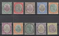 C2884/ BRITISH ST KITTS NEVIS – SG # 1 / 10 COMPLETE MINT – CV 185 $