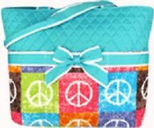 Peace Sign Blue Print Diaper Bag-NWT
