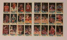 1990 91 PANINI NBA BASKETBALL UNCUT STICKER SET w/ 3 - MICHAEL JORDAN CARDS