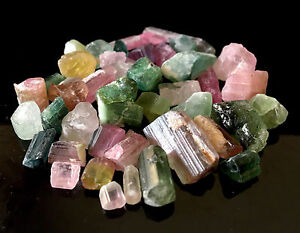 Turmalin roh mehrfarbige Kristalle - TOP Qualität aus Afghanistan