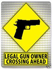 2nd amendment GUN Metal street sign revolver / mancave retro wall decor 402