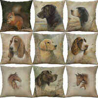 """18"""" Printing Animal dog horse Cotton Linen Pillows case Home Decor Cover"""