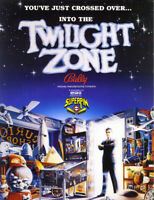 Twilight Zone Pinball Machine FLYER Original 1993 NOS Bally Artwork Rod Serling