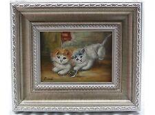 Künstlerische Öl-Malerei mit Katzen-Motiv
