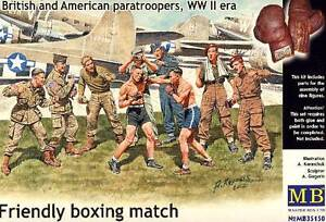 Masterbox British American US Paratroopers Boxing Match For Boxes 1:3 5 Kit