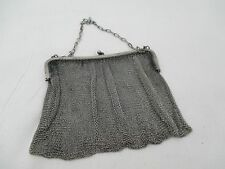 Vintage Art Deco  Soldered Chain Mesh Purse, Link Strap