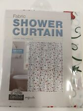Christmas Shower Curtain Fabric Deck the Halls Carnation Home Fashions NEW 70x72