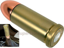 BRASS ALUMINIUM BULLT MAG 44 STICK SHIFT KNOB CAR/TRUCK UNIVERSAL SPEED SHIFTER
