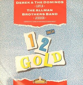 """DEREK & THE DOMINOS LAYLA ALLMAN BROTHERS BAND JESSICA 1988 OLD GOLD 12"""" RECORD"""