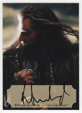 2015 Hobbit Desolation of Smaug Poster Autograph Card Richard Armitage THORIN