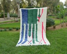 Azilal rug, Wool Berber Moroccan Beni Ourain Rug Carpet handmade wool Azilal rug
