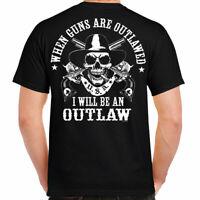 T Shirt cycles Shirt Skull Motorcycle Harley Biker 2nd Amendment gun patriotic