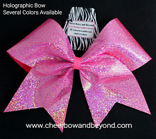 Holographic Cheer Bows (Several Color Options)