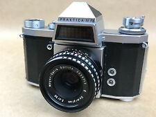 Praktica IV FB M42 Screw Mount Camera w/ 50mm f/2.8 Domiplan Meyer-Optik Lens