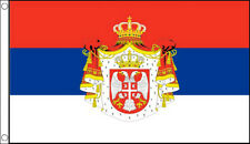 SERBIA FLAG 5' x 3' Old Serbian Historical State Crest Flags Europe