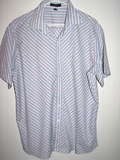 H&H MEN'S SHORT SLEEVE BUTTON FRONT STRETCH SHIRT XL