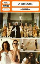 FICHE CINEMA : LA NUIT SACREE - Annabi,Bosé,Chaplin,Klotz 1993