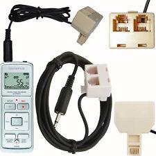 Adaptateur de téléphone RJ11 Enregistrement Recorder Micro plomb pour nous / lignes téléphoniques de l'UE