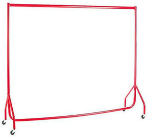 HEAVY DUTY Clothes Rails RED 6FT Portable Garment Hanging Shop Displays🔥
