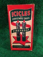 Vintage Christmas Tree Icicles Fireproof Lead Tinsel In Original Reynolds Box