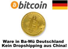 ★ Bitcoin Münze Medallie Gold Goldbarren vergoldet Goldmünze Platin Palladium