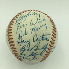 Earliest Known Gary Carter Signed 1973 Montreal Expos Team Baseball JSA COA