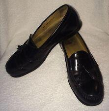 Cole Haan Air Leather Mens US 10.5 M Shoes Dark Brown Tassels Kiltie Loafer