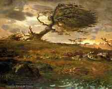Storm Gale Tempest Art - A Gust of Wind by Jean Francois Millet  8x10 Print 0091