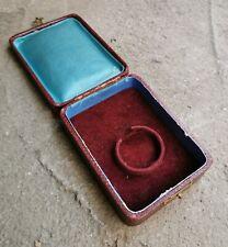 Antique Vintage Velvet Box Case for Pocket Watch Jewelry Pendant