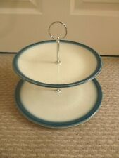 WEDGWOOD BLUE PACIFIC  PATTERN 2 TIER CAKE STAND