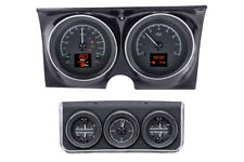 1967 Camaro Dakota Digital Black Alloy HDX Custom Analog w/ Console Gauge Kit