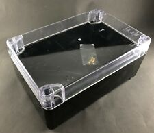 300x200x125mm PVC Clear Cover Enclosure Junction DIY Project Box IP65 Waterproof