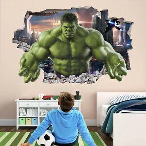 Hulk Superhero Wall Art Stickers Mural Decal Kids Bedroom Decor EA60