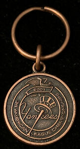 2001 New York Yankees HEBREW NATIONAL Key Chain 38 American League Championship
