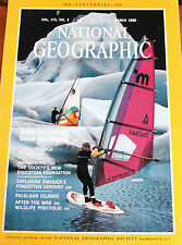 NATIONAL GEOGRAPHIC MARCH 1988 CHINA BY RAIL SPANISH CENTURE ANCHORAGE FALKLANDS