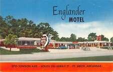Ft Smith Arkansas Englander Motel Street View Antique Postcard K26933
