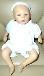 Rare 2007 Sheila Michael ADG Doll Reborn Real Baby Doll in Pink & White Sleeper