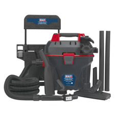 More details for gv180wm sealey garage vacuum 1500w with remote control - wall mounting