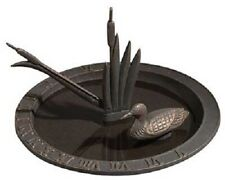 Loon Oil Rub Bronze Aluminum Sundial Bird Bath by Whitehall Products