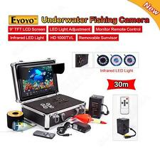 "New 30M Underwater Fishing Camera Night Vison Fish Finder 9"" Monitor w/Cell Box"