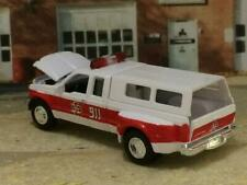 1999 99 FORD F-350 Super Cab Dually Fire Dept. Truck 1/64 Scale Limited Edt S16