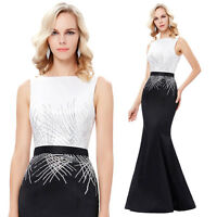 Long Formal Party Cocktail Evening Prom Wedding Gown Ball Maxi Bodycon Dresses