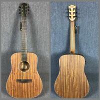 Electric Acoustic Guitar KOA With EQ Dots Inlays Sapele Black Hardware
