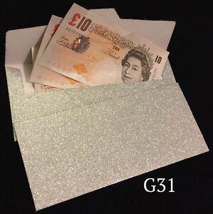 Sparkling Silver Glitter Wedding Money Gift Envelope Christmas Cash Gift Wallets
