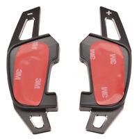 Aluminum Metal Brush Paddle Shift Shifter Extension Black For VW Golf 7 MK7 GTI